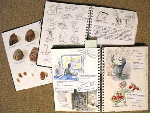 Mini's sketchbooks